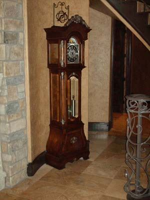 grandfather clock inside of home