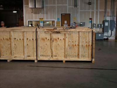 two shipping crates