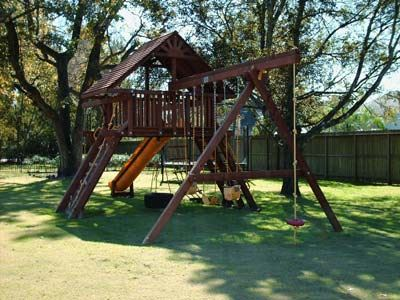 child's swing set